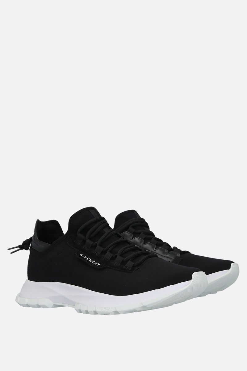 GIVENCHY: Spectre stretch knit and leather sneakers Color Black_3