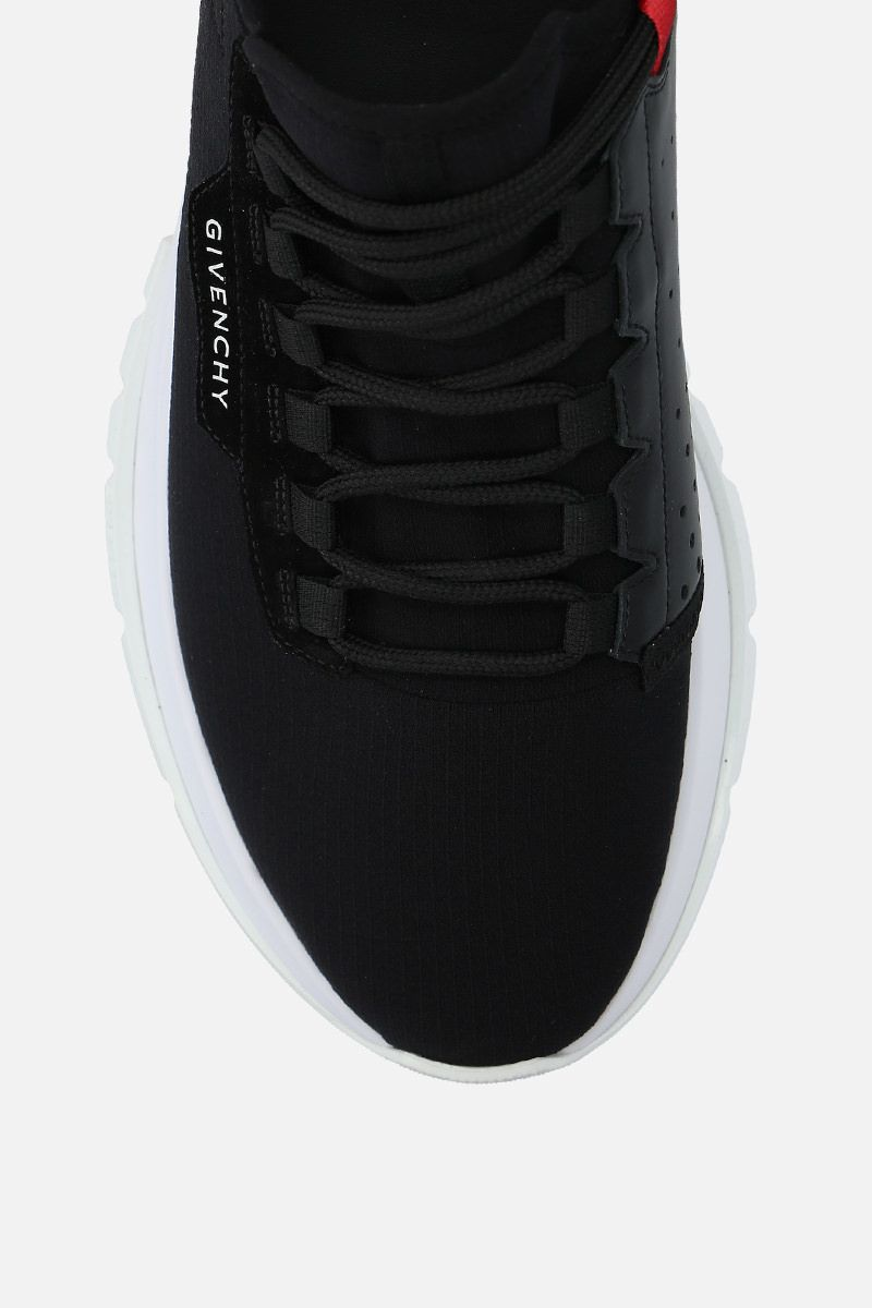 GIVENCHY: Spectre stretch knit and leather sneakers Color Black_5
