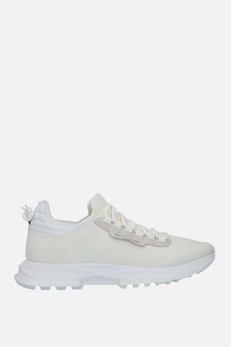 GIVENCHY: Spectre stretch knit and leather sneakers Color White_1