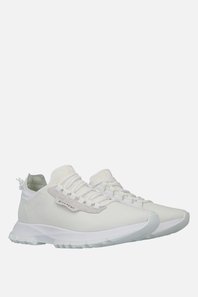 GIVENCHY: Spectre stretch knit and leather sneakers Color White_2
