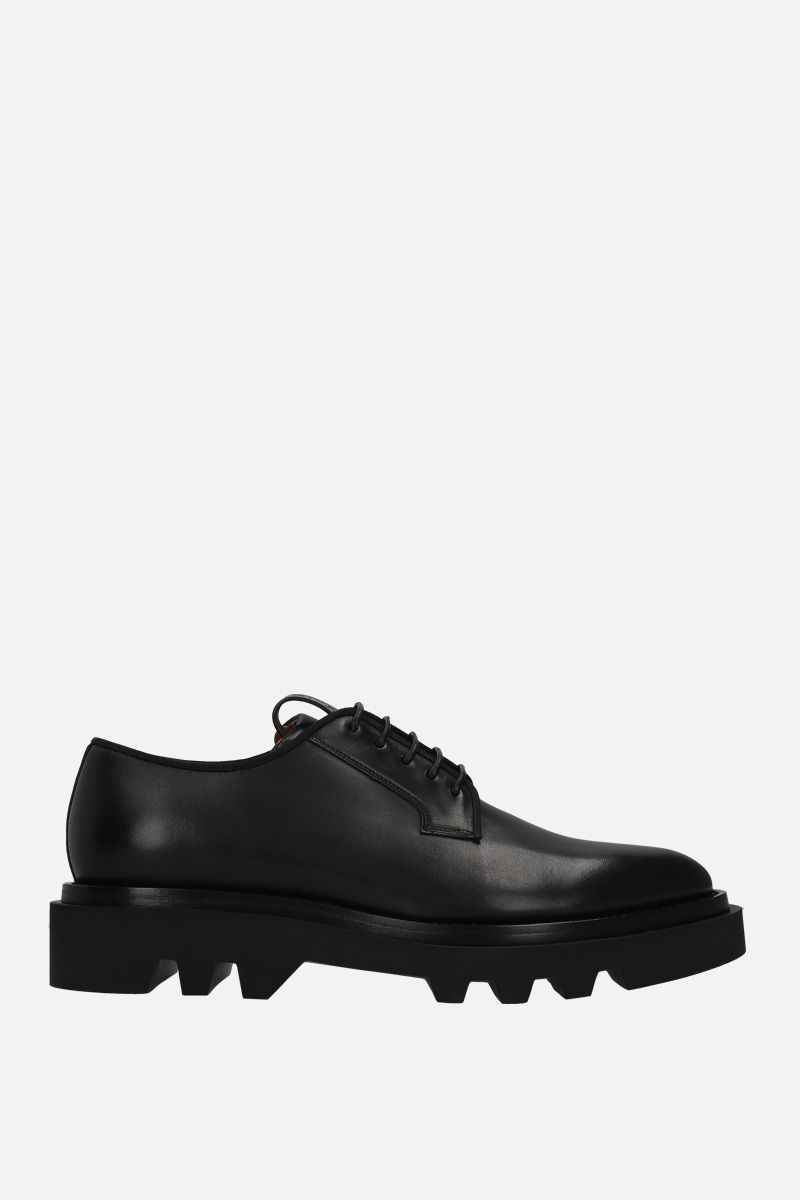 GIVENCHY: brushed calf derby shoes Color Black_1