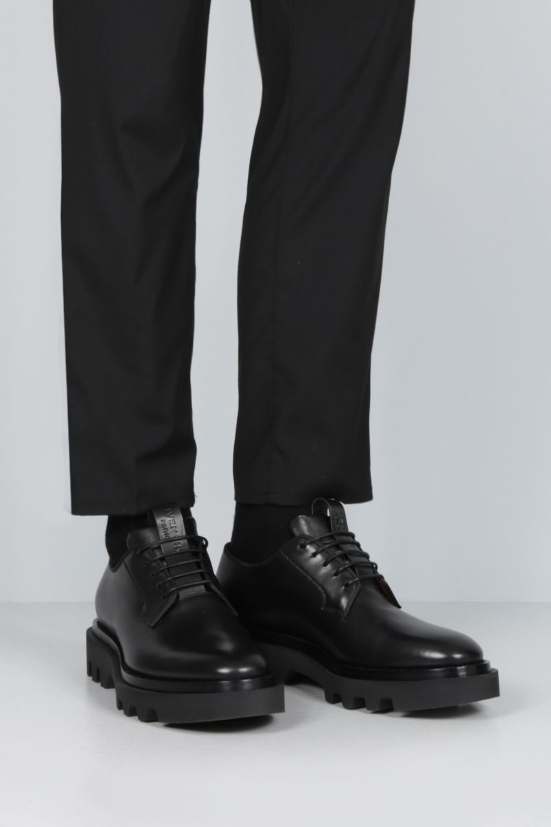 GIVENCHY: brushed calf derby shoes Color Black_2