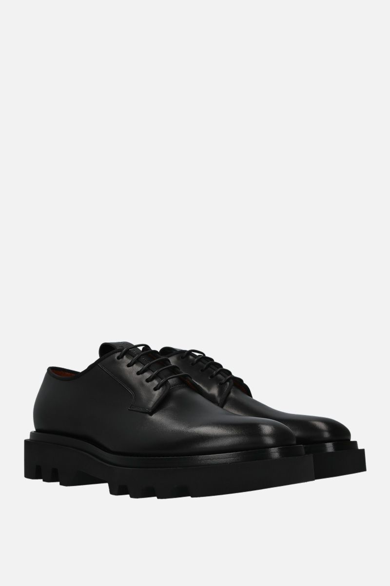 GIVENCHY: brushed calf derby shoes Color Black_3