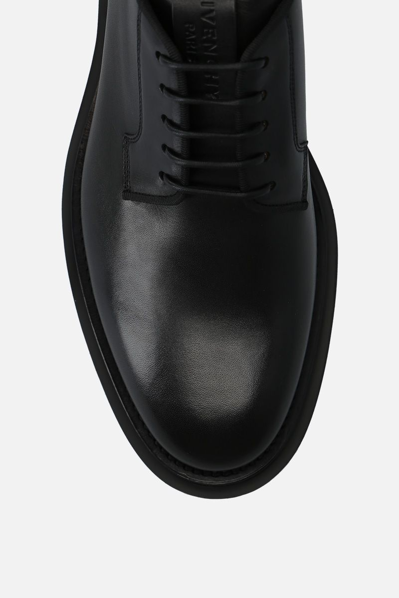 GIVENCHY: brushed calf derby shoes Color Black_5