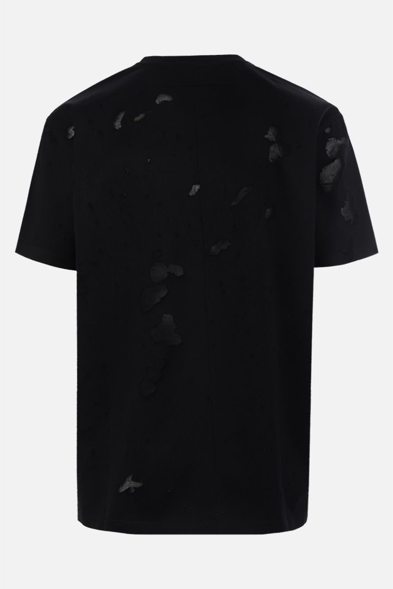 GIVENCHY: destroyed-effect cotton oversized t-shirt Color Black_2