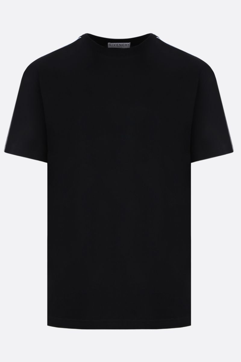 GIVENCHY: cotton t-shirt with logoed bands Color Black_1