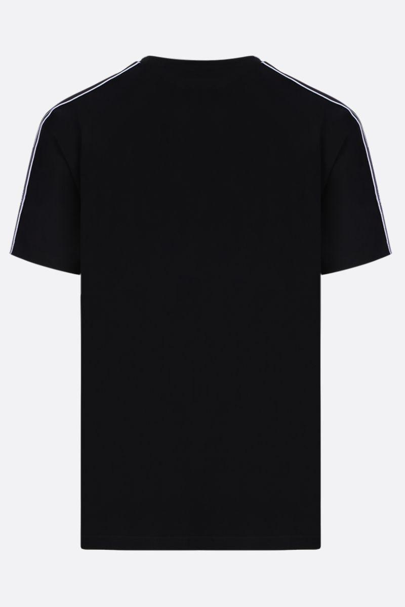 GIVENCHY: cotton t-shirt with logoed bands Color Black_2