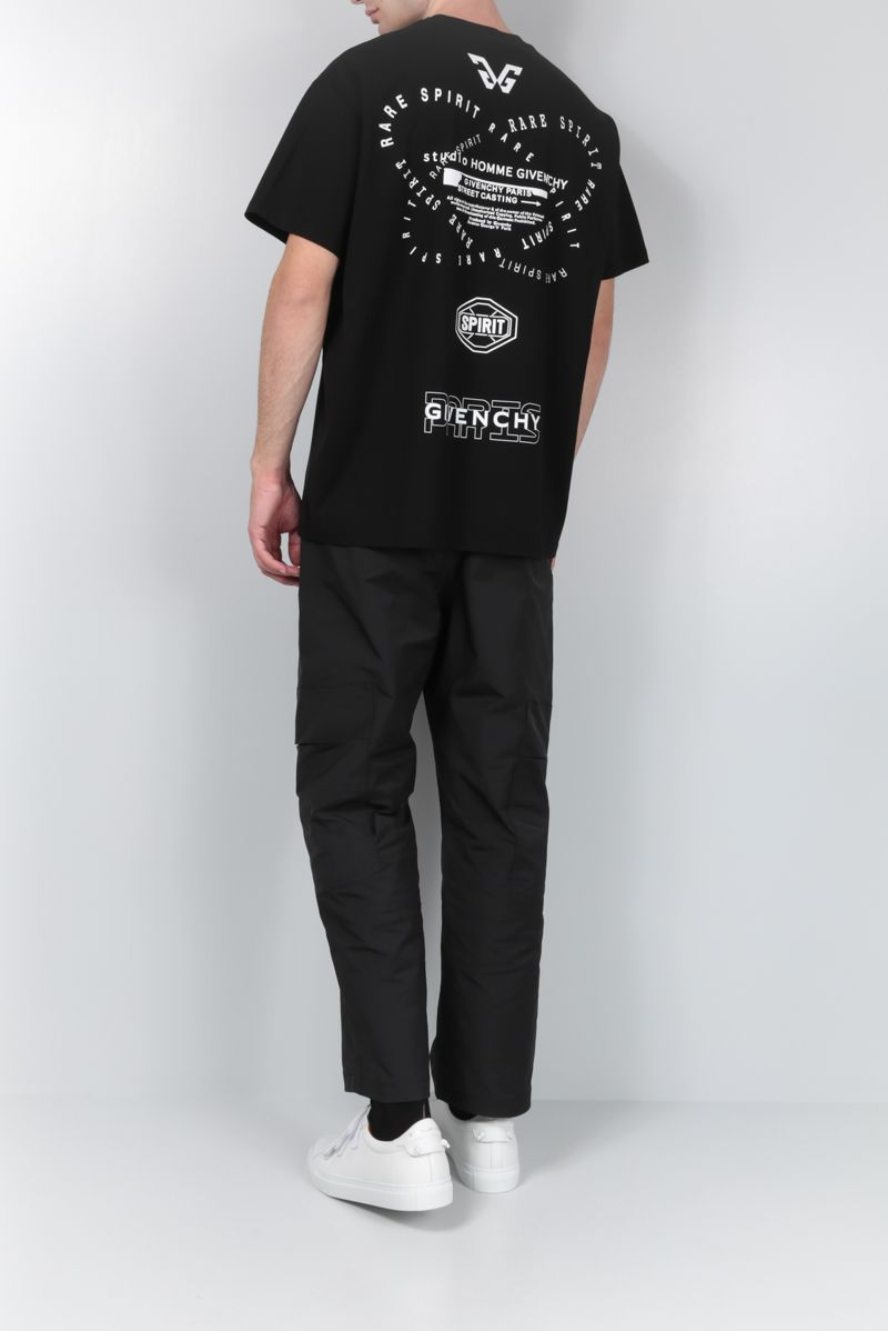 GIVENCHY: Rare Spirit print cotton oversized t-shirt Color Black_2