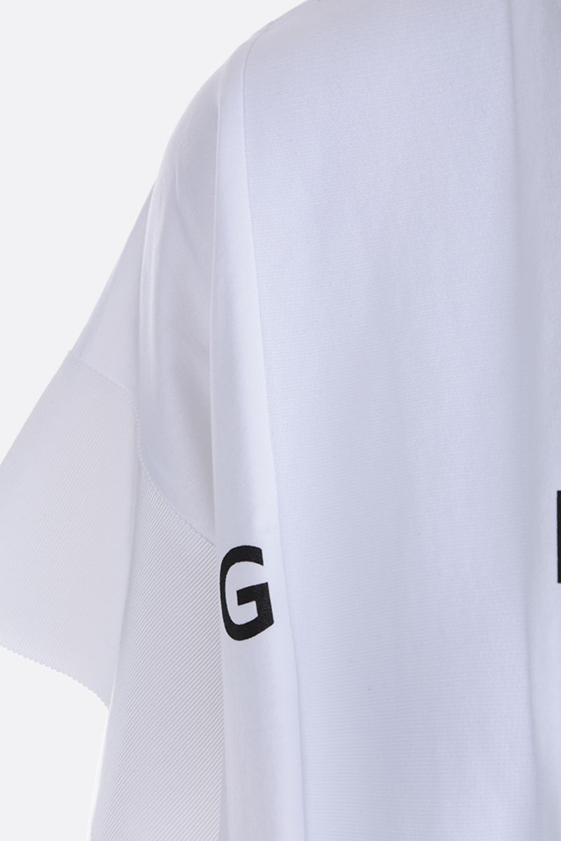 GIVENCHY: Givenchy Spirit print jersey oversized t-shirt Color White_4