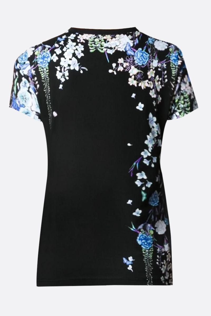 GIVENCHY: t-shirt in cotone stampa floreale Givenchy Colore Nero_2