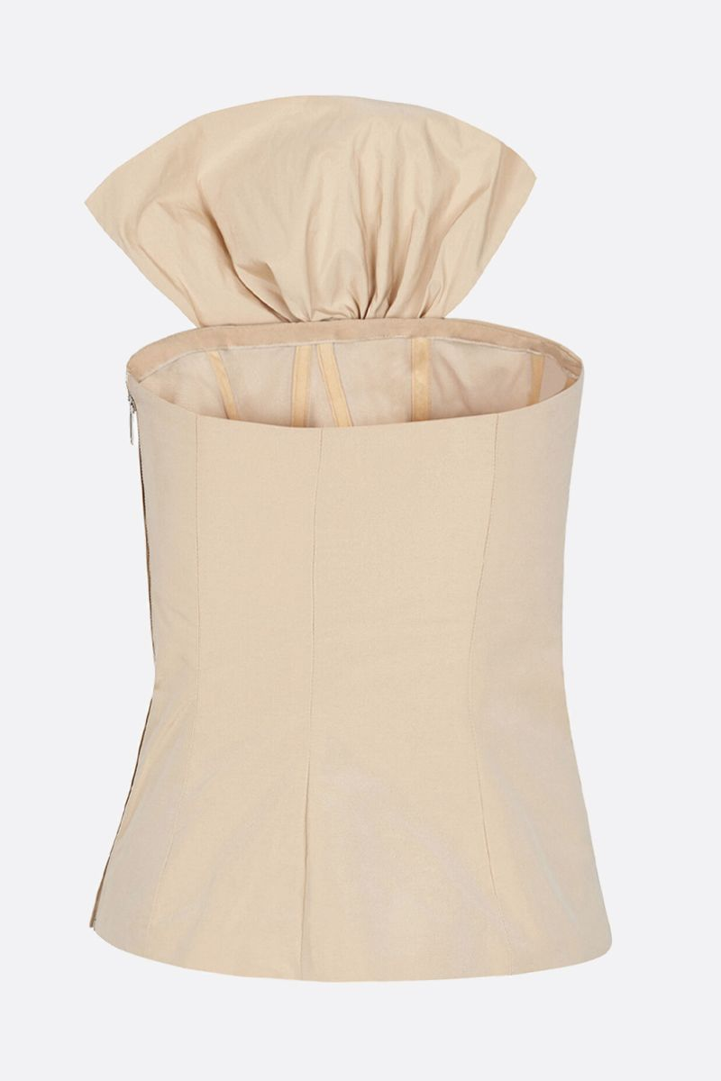 GIVENCHY: bow-detailed taffetà bustier top Color Neutral_2