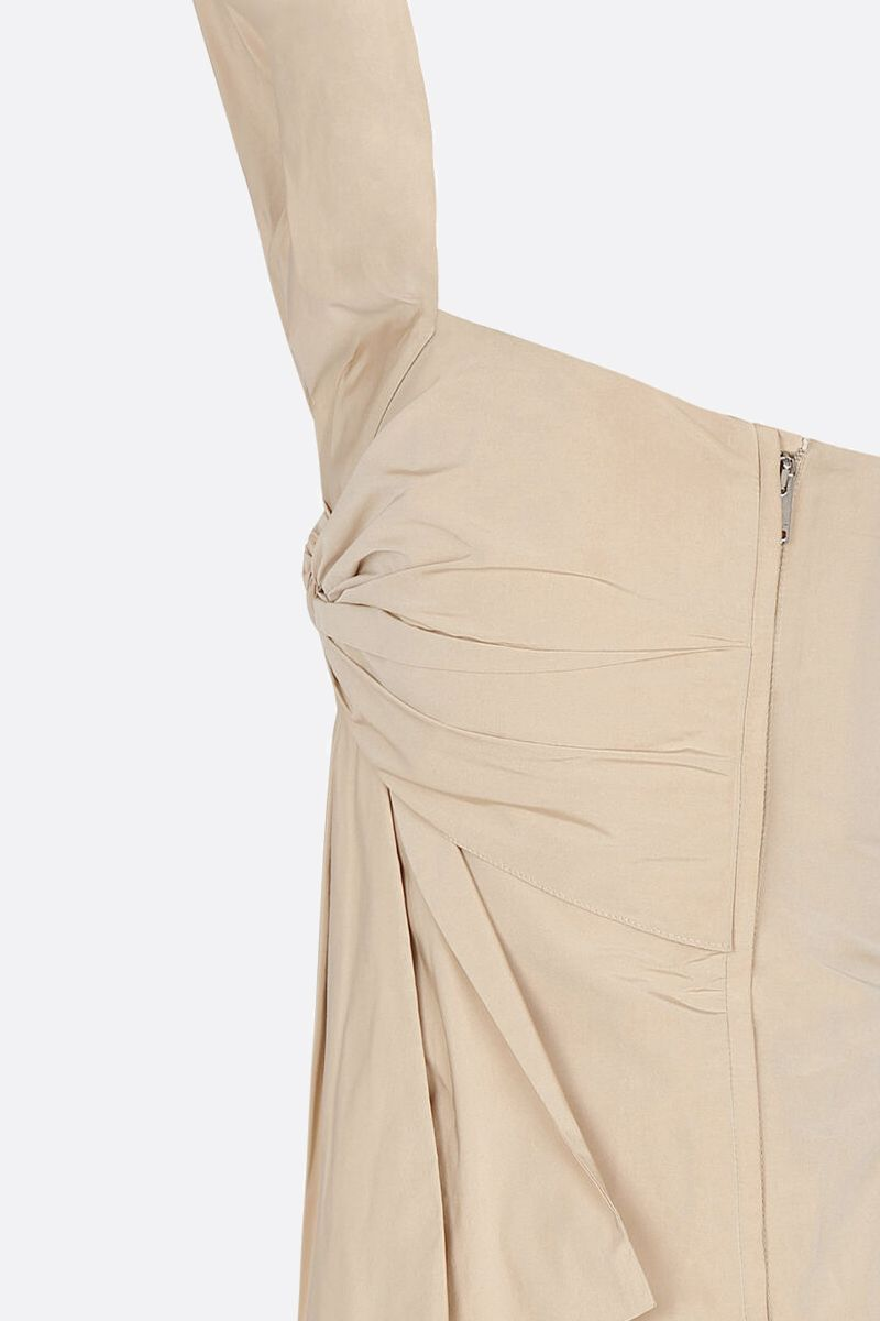 GIVENCHY: bow-detailed taffetà bustier top Color Neutral_3