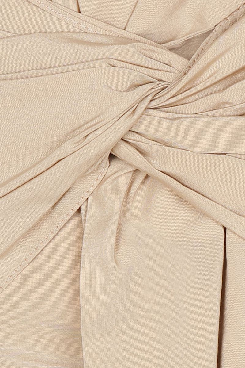 GIVENCHY: bow-detailed taffetà bustier top Color Neutral_4