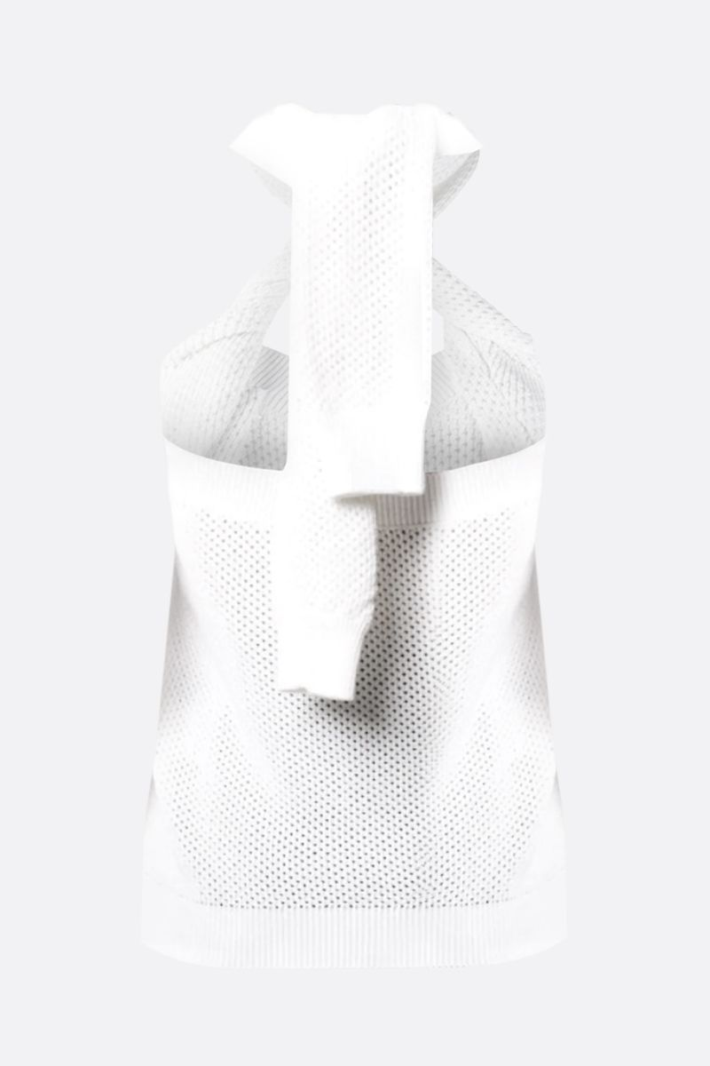 GIVENCHY: perforated knit top Color White_2