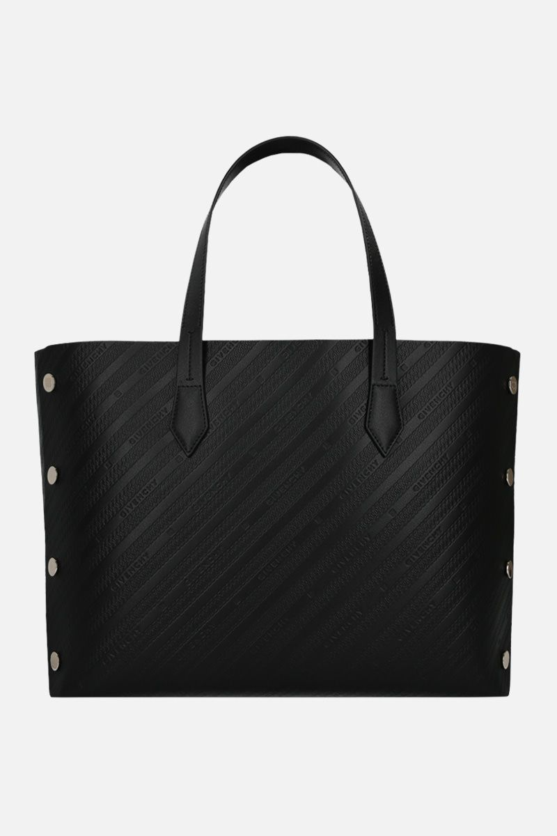 GIVENCHY: Bond medium tote bag in textured leather Color Black_1