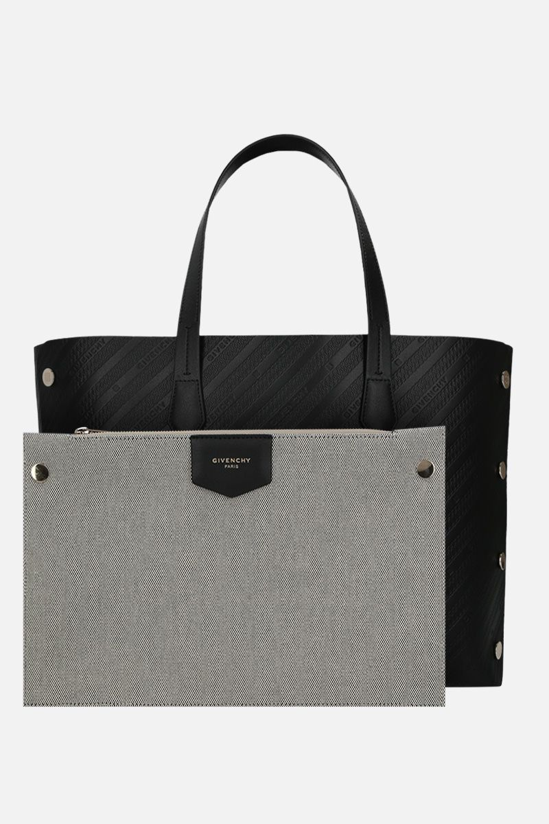 GIVENCHY: Bond medium tote bag in textured leather Color Black_2
