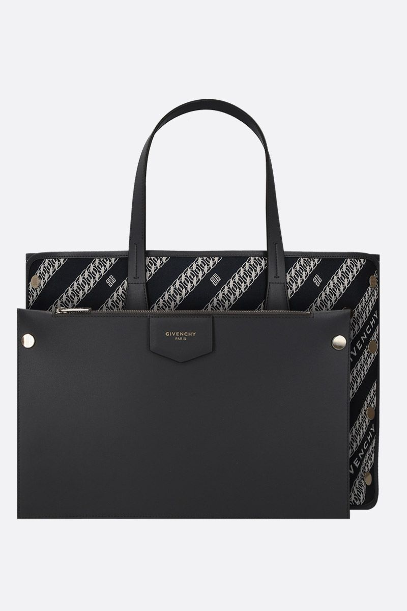 GIVENCHY: Bond medium tote bag in canvas Color Blue_2