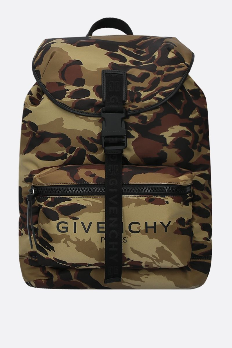 GIVENCHY: Light 3 backpack in camouflage-print nylon Color Multicolor_1