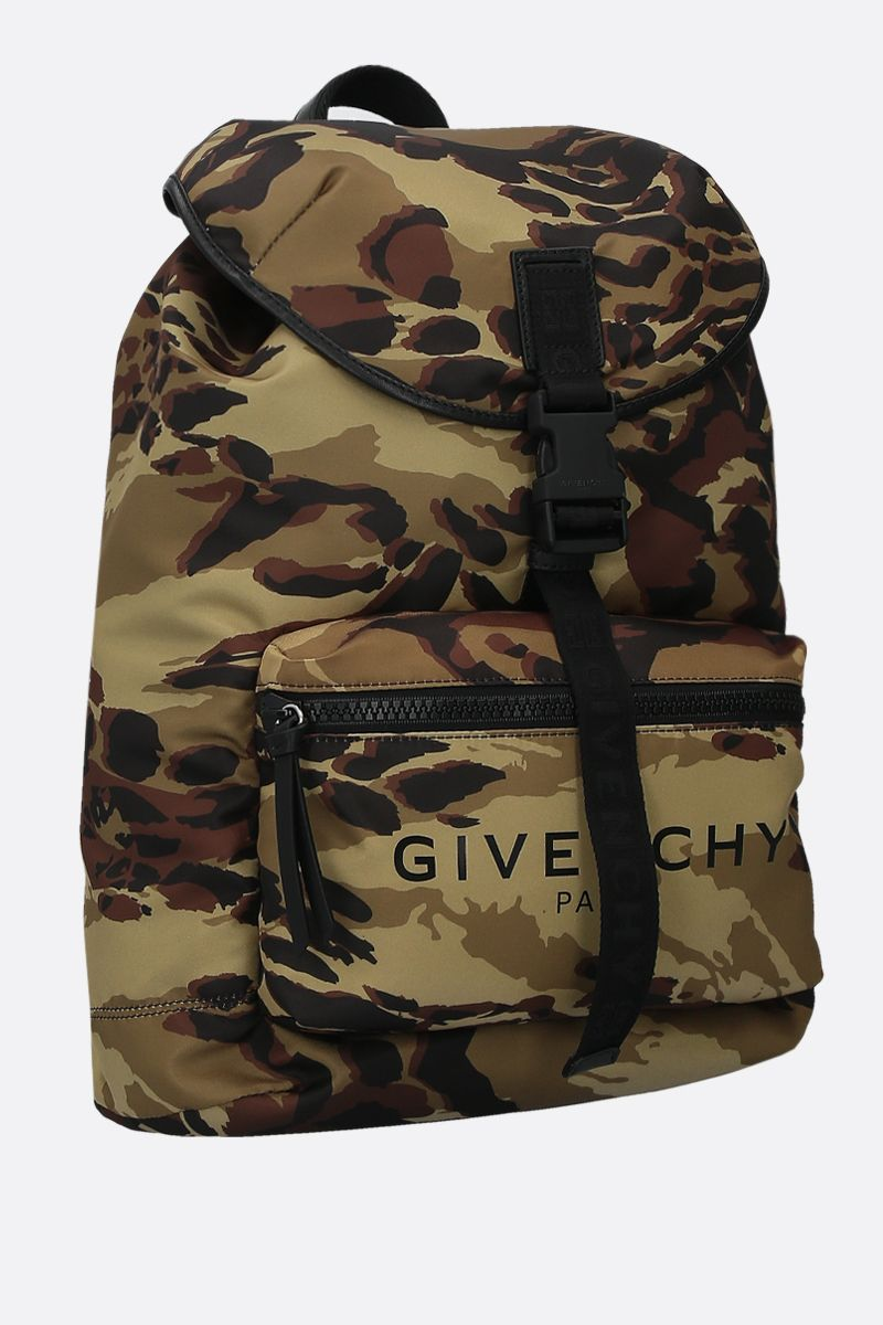 GIVENCHY: Light 3 backpack in camouflage-print nylon Color Multicolor_2