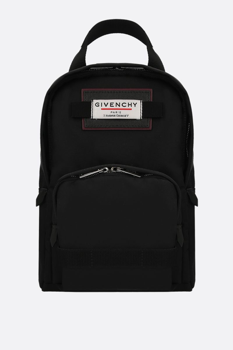 GIVENCHY: zaino Givenchy Downtown small in nylon Colore Nero_1