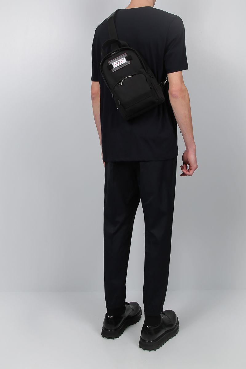 GIVENCHY: zaino Givenchy Downtown small in nylon Colore Nero_2