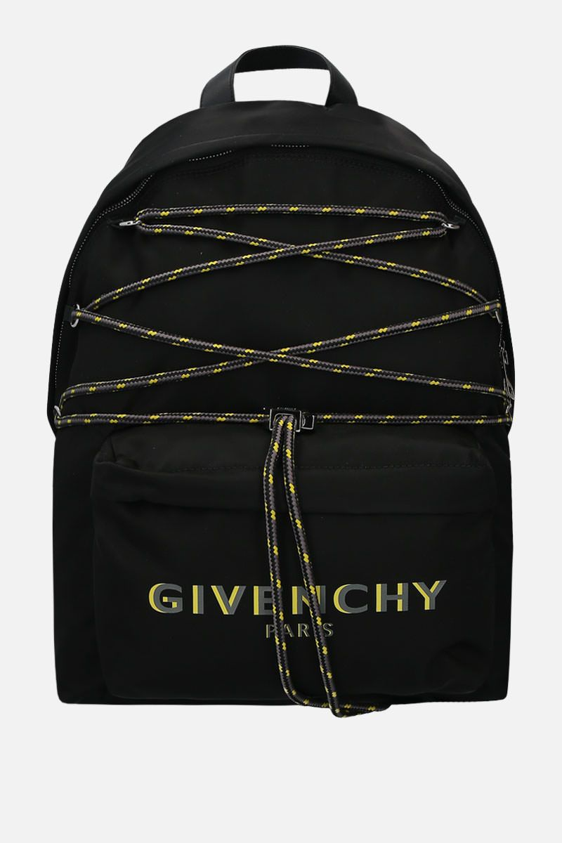 GIVENCHY: zaino Givenchy Paris in nylon Colore Nero_1