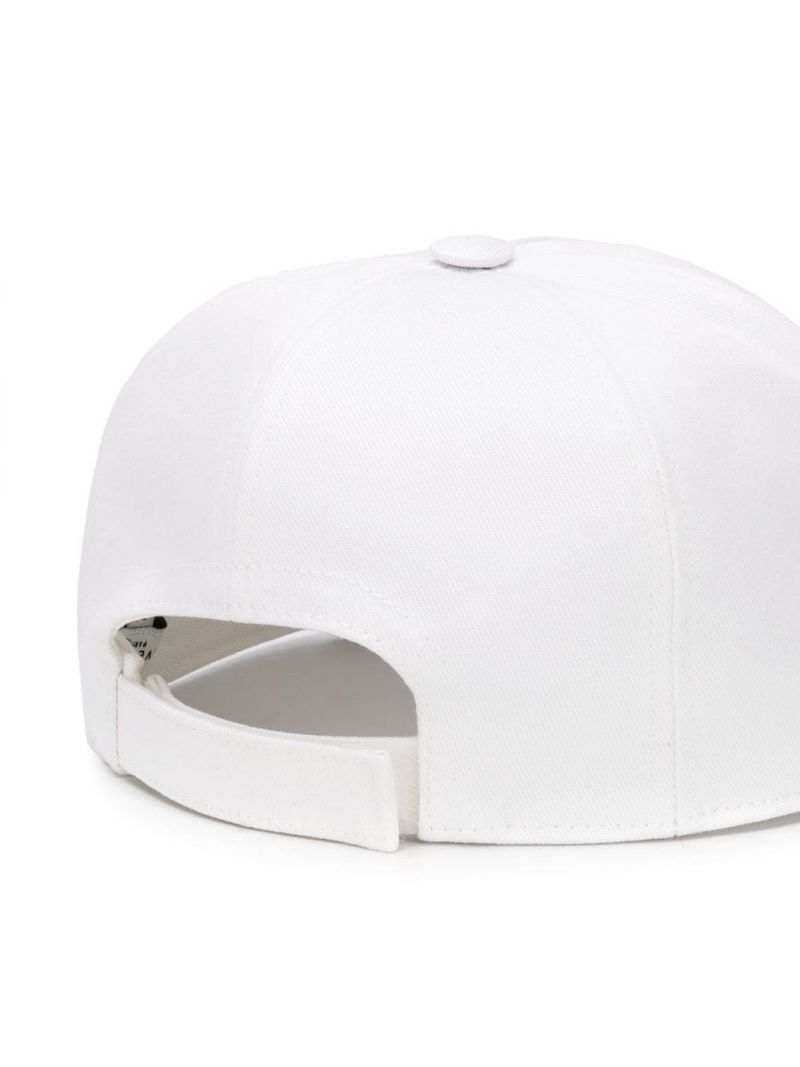 GIVENCHY KIDS: cappellino baseball in canvas stampa logo Colore Bianco_2