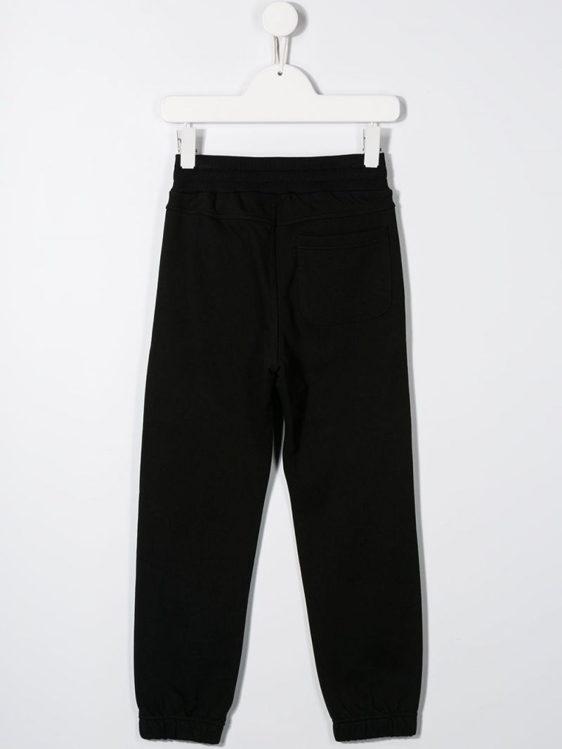 GIVENCHY KIDS: logo print jersey joggers Color Black_2