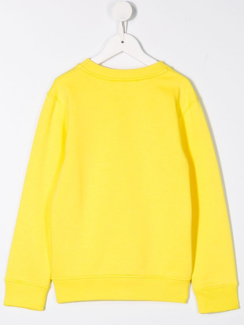 GIVENCHY KIDS: Givenchy Paris Vintage print jersey sweatshirt Color Yellow_2