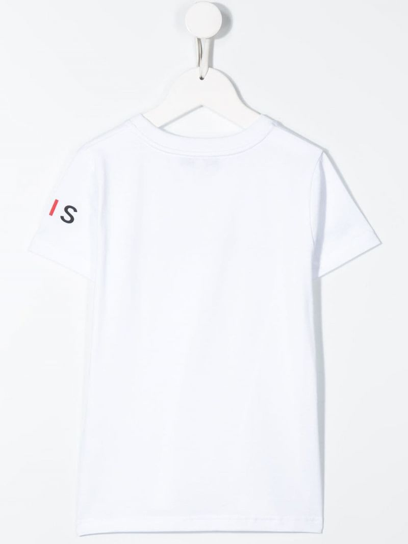 GIVENCHY KIDS: logo print cotton t-shirt Color White_2