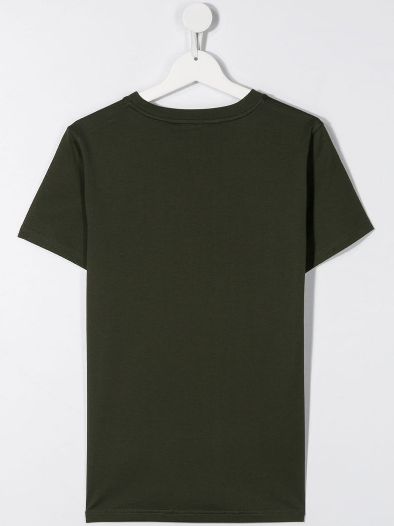 GIVENCHY KIDS: t-shirt in cotone stampa Givenchy Paris Colore Marrone_2