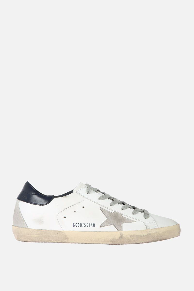 GOLDEN GOOSE DELUXE BRAND: Superstar sneaker in smooth leather and suede Color Multicolor_1