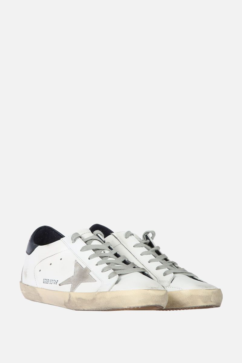 GOLDEN GOOSE DELUXE BRAND: Superstar sneaker in smooth leather and suede Color Multicolor_2