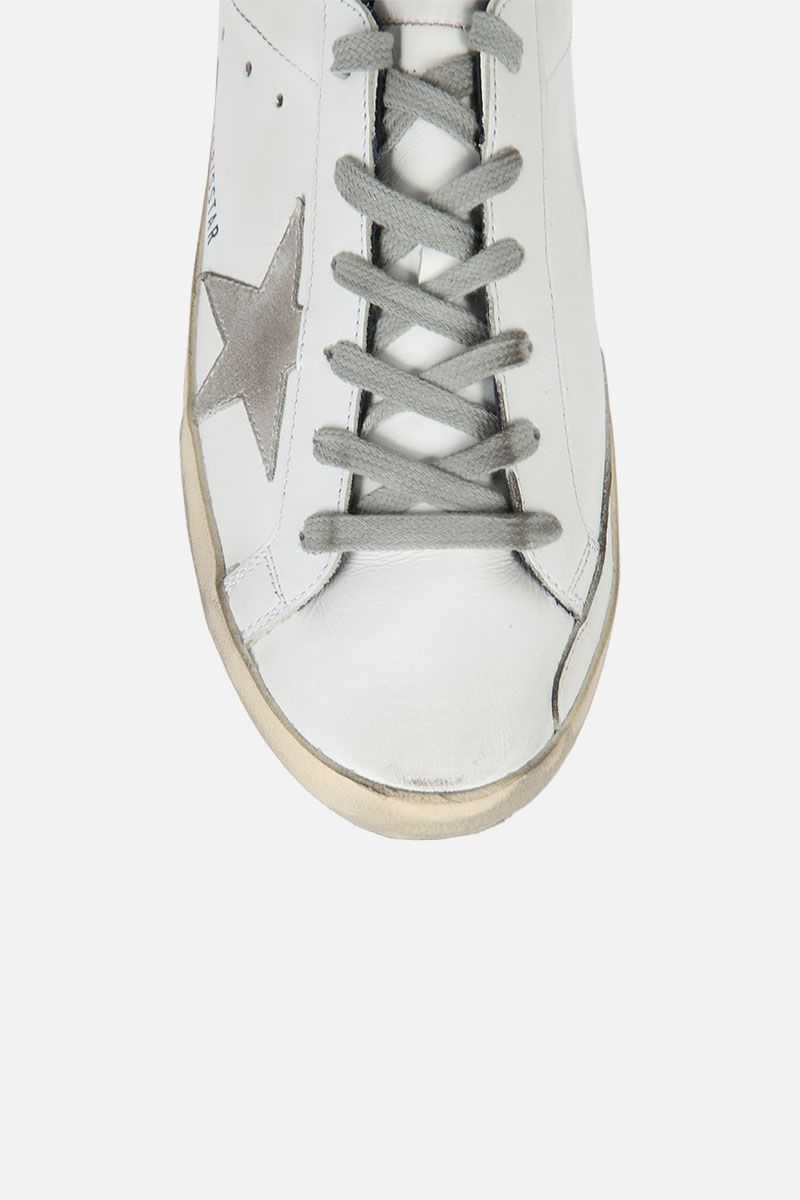 GOLDEN GOOSE DELUXE BRAND: Superstar sneaker in smooth leather and suede Color Multicolor_4