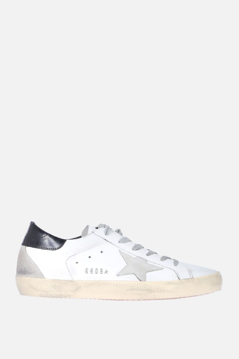 GOLDEN GOOSE DELUXE BRAND: Superstar sneaker in smooth leather and suede Color Black_1