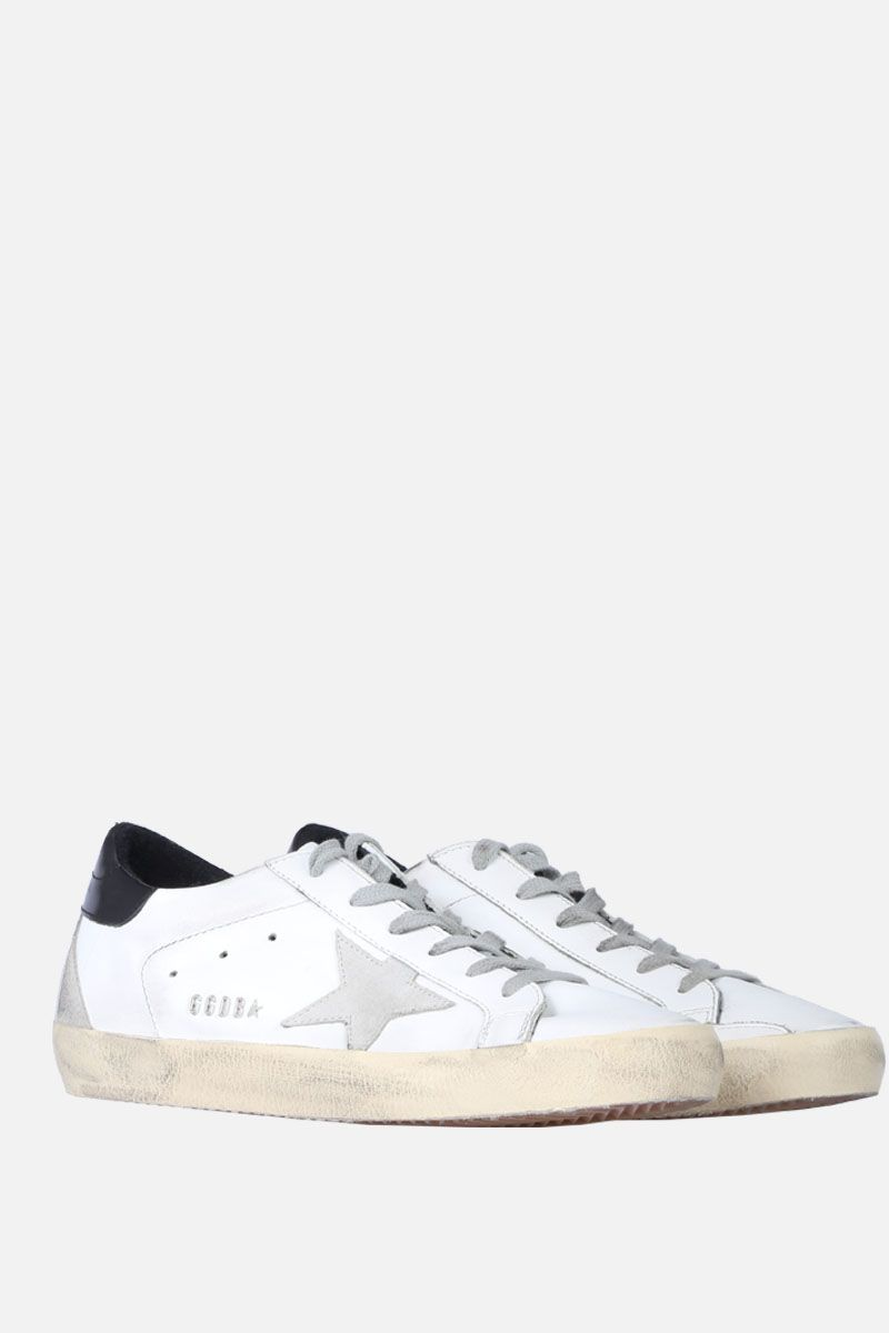 GOLDEN GOOSE DELUXE BRAND: Superstar sneaker in smooth leather and suede Color Black_2