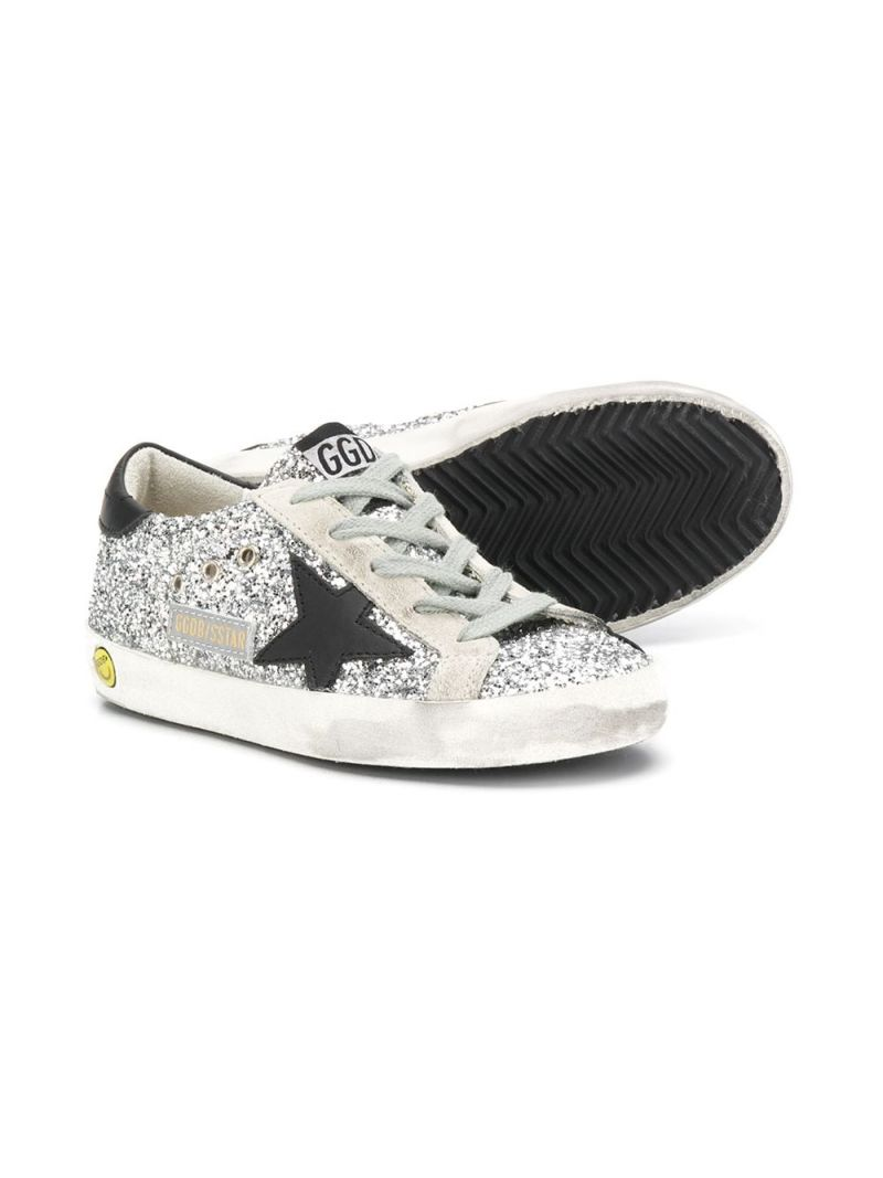 GOLDEN GOOSE DELUXE BRAND KIDS: Superstar glitter sneakers Color Multicolor_2
