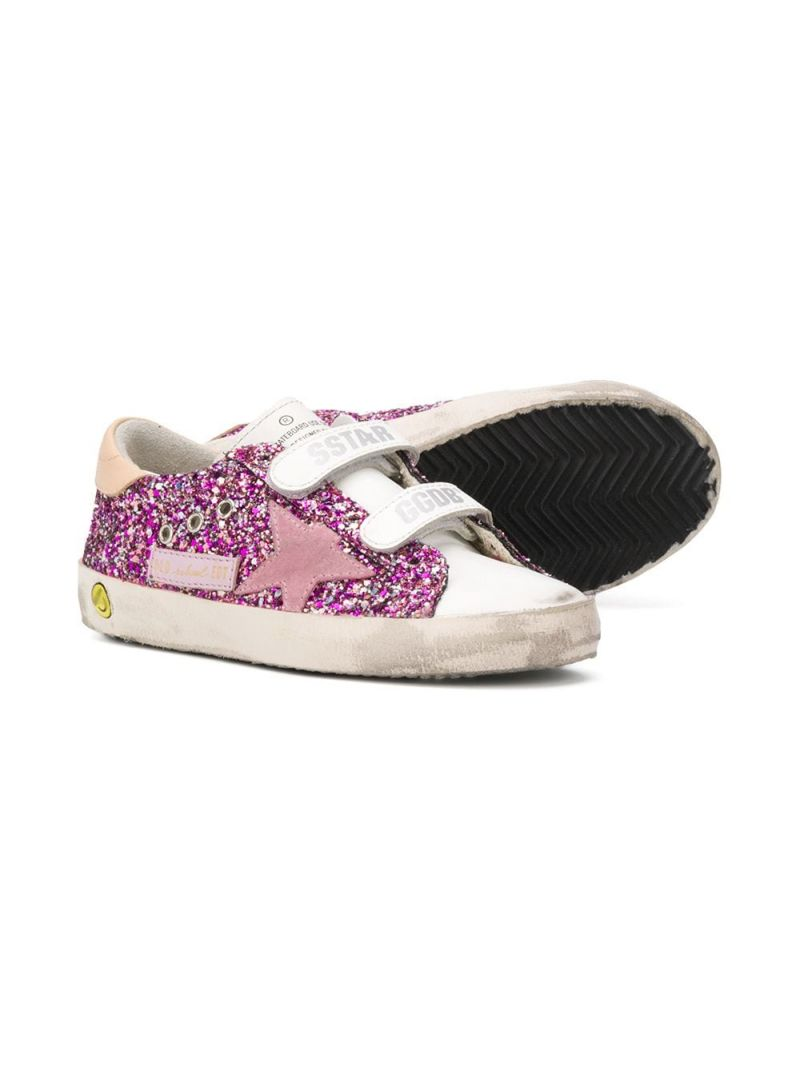 GOLDEN GOOSE DELUXE BRAND KIDS: Old School glitter sneakers Color Multicolor_2