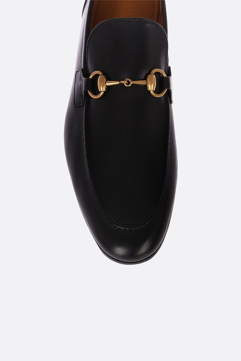 GUCCI: Jordan loafers in shiny leather Color Black_4