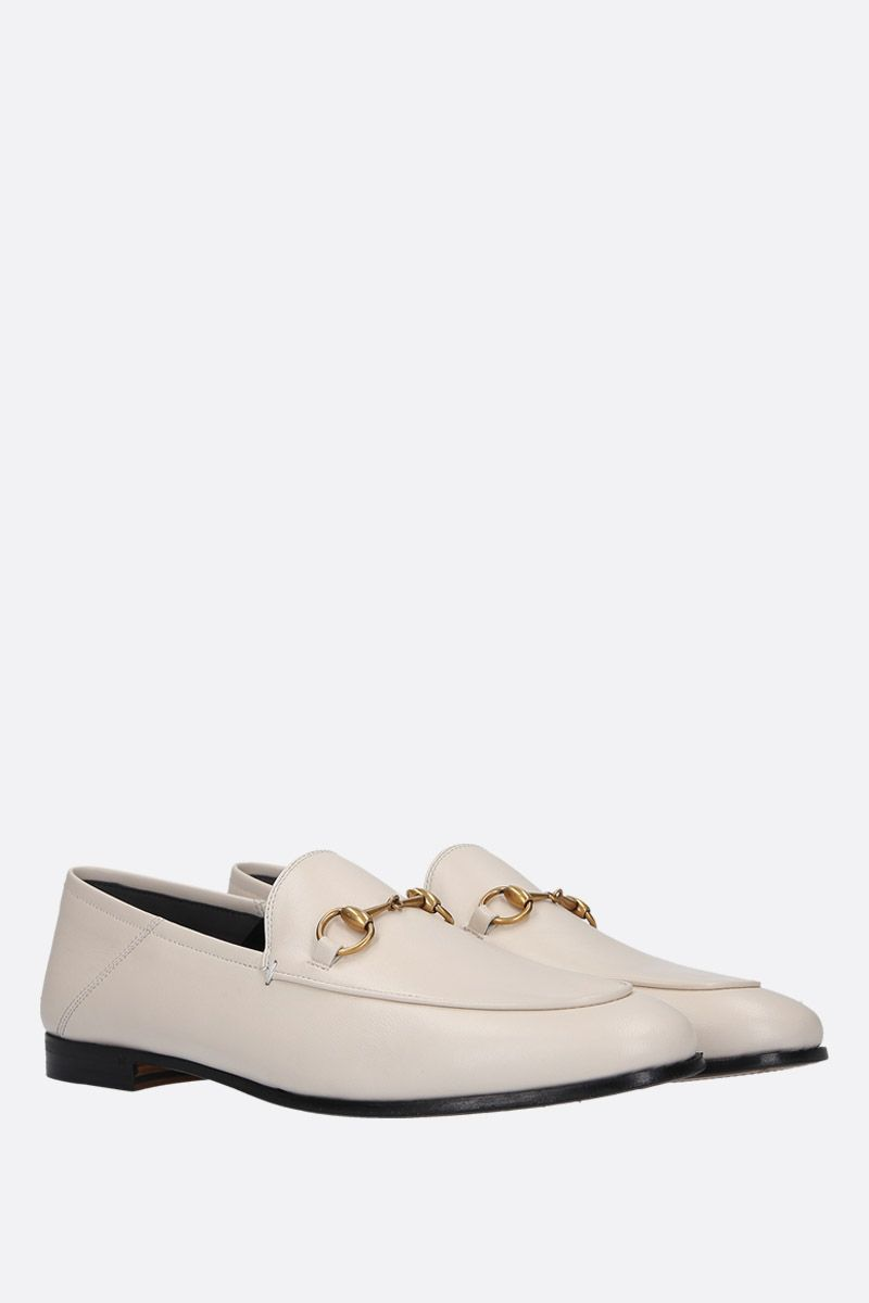 GUCCI: Brixton loafers in Plongè nappa Color White_2