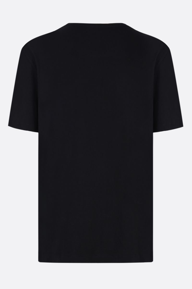 GUCCI: oversized vintage Gucci print jersey t-shirt Color Black_2