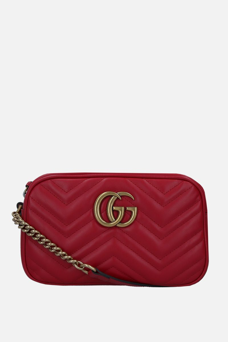 GUCCI: GG Marmont small crossbody bag in quilted leather Color Red_1