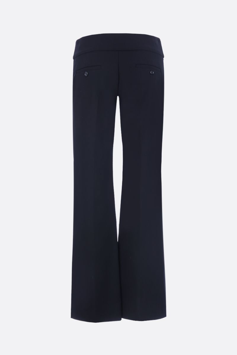 GUCCI: Double G detailed jersey flare pants Color Black_2