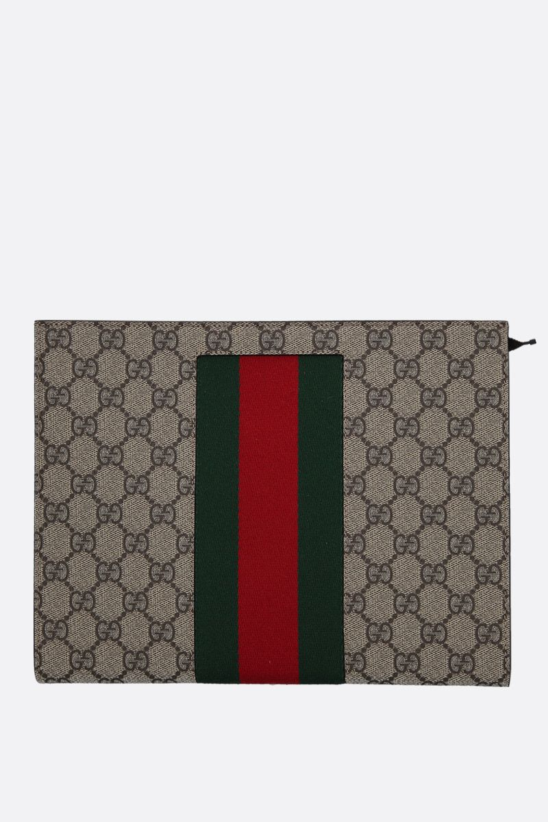 GUCCI: GG Supreme canvas pouch Color Multicolor_1