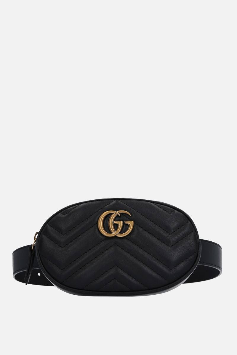 GUCCI: GG Marmont belt bag in quilted leather Color Black_1
