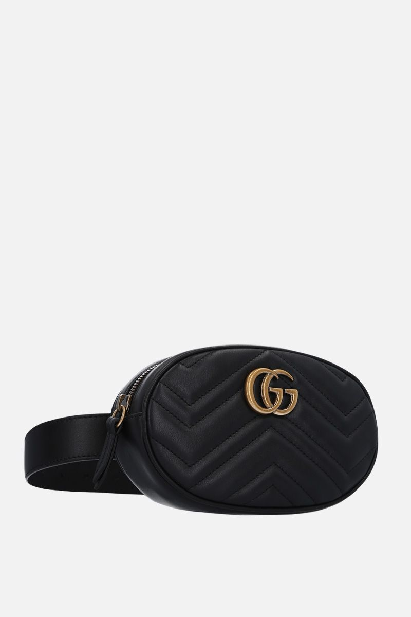 GUCCI: GG Marmont belt bag in quilted leather Color Black_2