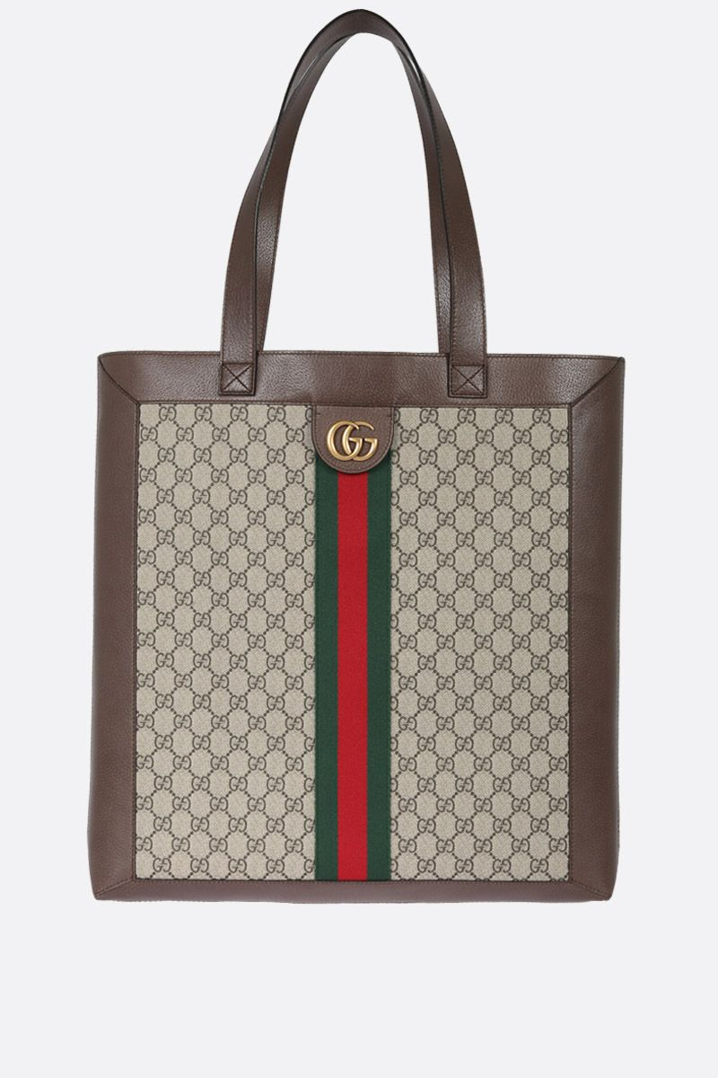 GUCCI: Ophidia GG Supreme shopping bag Color Multicolor_1