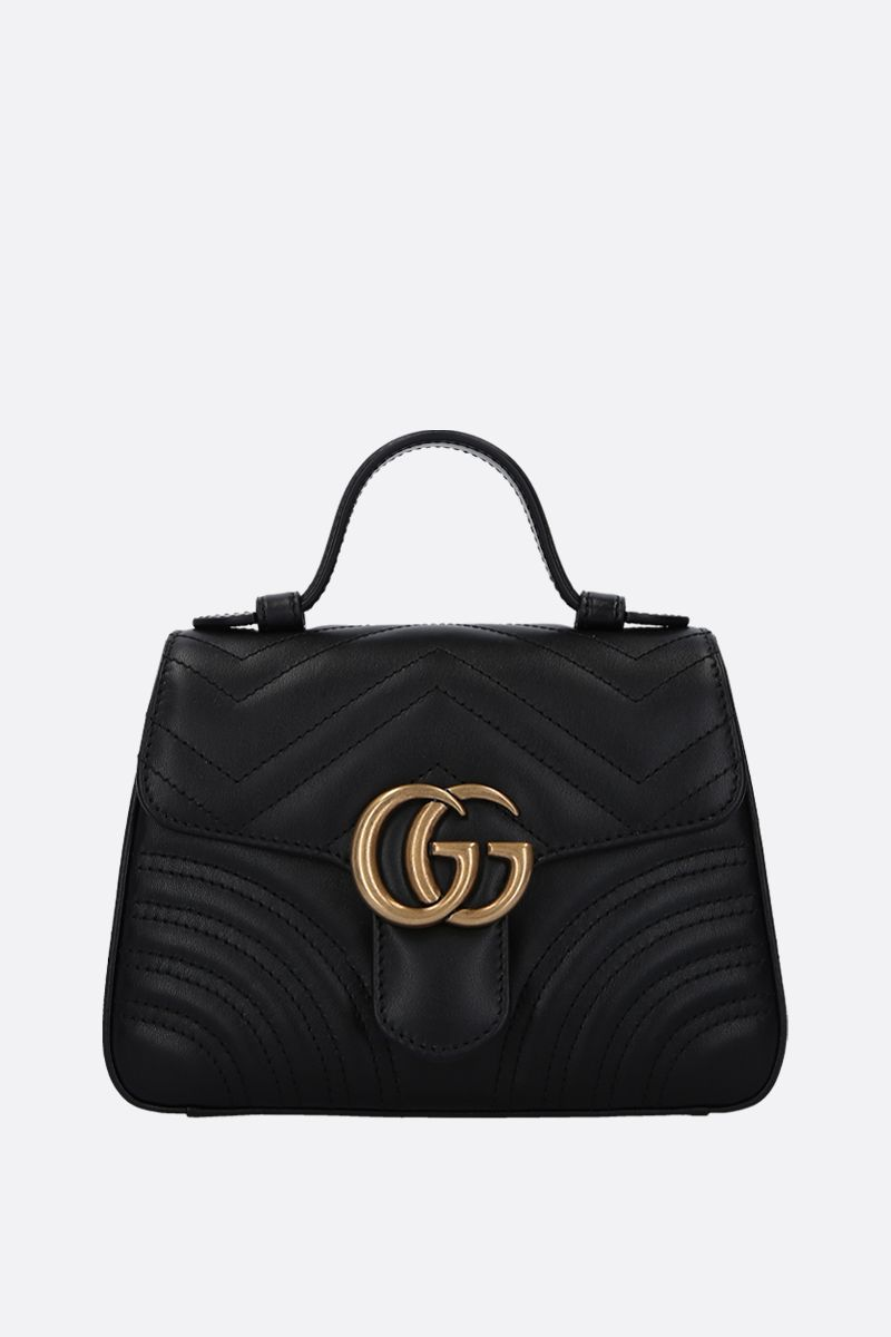 GUCCI: GG Marmont handbag in quilted leather Color Black_1