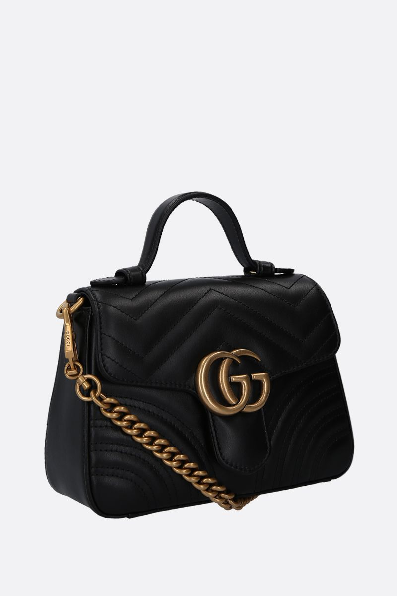 GUCCI: GG Marmont handbag in quilted leather Color Black_2