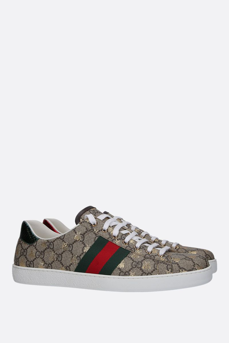 GUCCI: Ace sneakers in GG Supreme canvas Color Multicolor_2